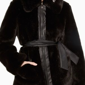 Kate Spade faux fur coat